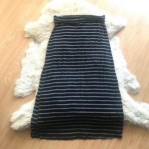 Lilac Striped Maxi Skirt